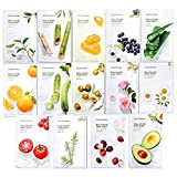 Nature Republic Real Nature Mask Sheet (14 type), Nature made Freshly packed Korean Face Mask,...