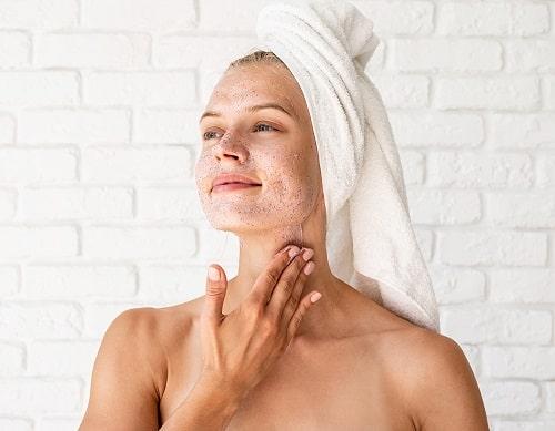 cuidado de la piel del cuello
